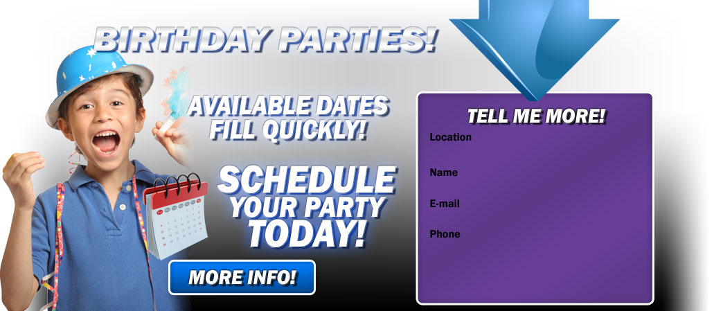 Schedule your Kids Karate  Birthday Party today.
