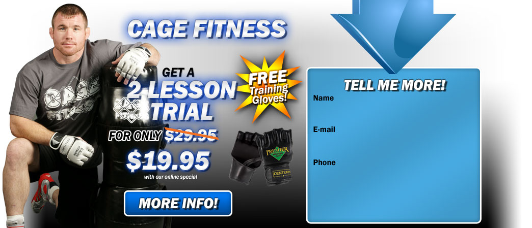 Cage Fitness and karate Riverside 2 lesson trial for $19.95!
