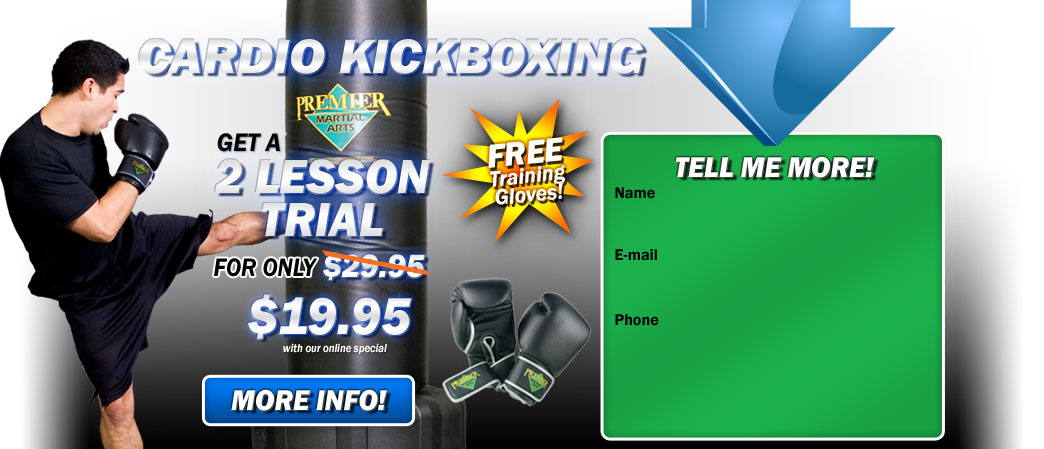 Cardio Kickboxing Riverside 2 lesson trial for $19.95!