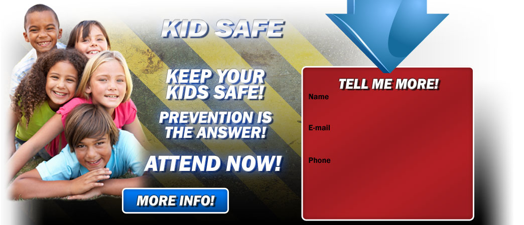 Premier Martial Arts Kid Safe seminar teaches kids how to be safe from danger.