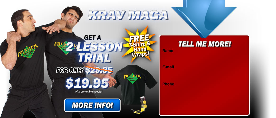 Krav Maga and kickboxing Riverside 2 lesson trial only $19.95!